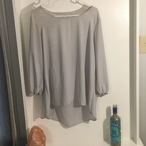Long sleeve XL gray/teal Charming Charlie's blouse